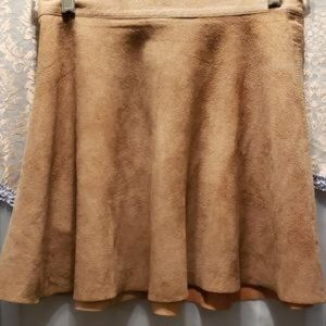 AMERICAN APPAREL LEATHER/SUEDE MINI SKIRT SZ M